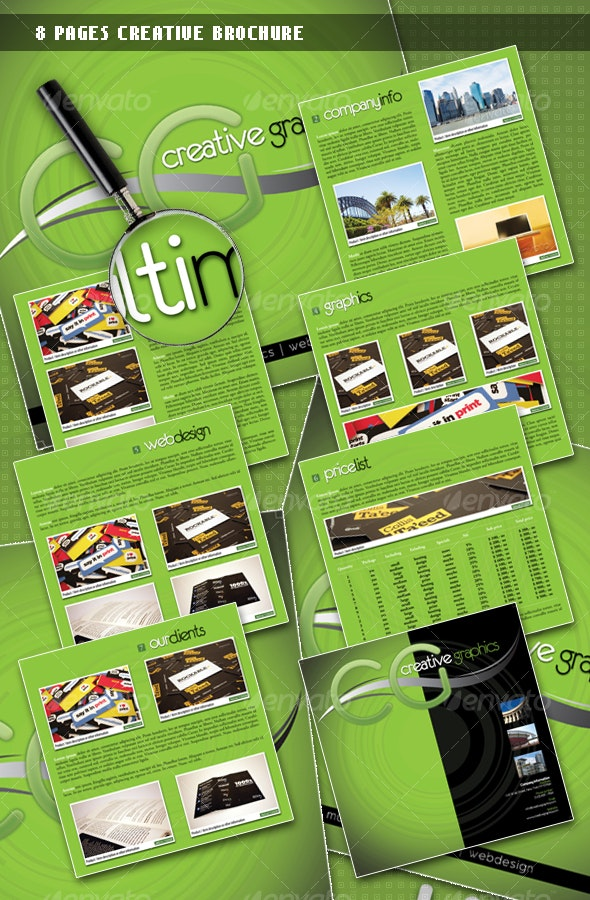 8 Pages Creative Brochure - Corporate Brochures