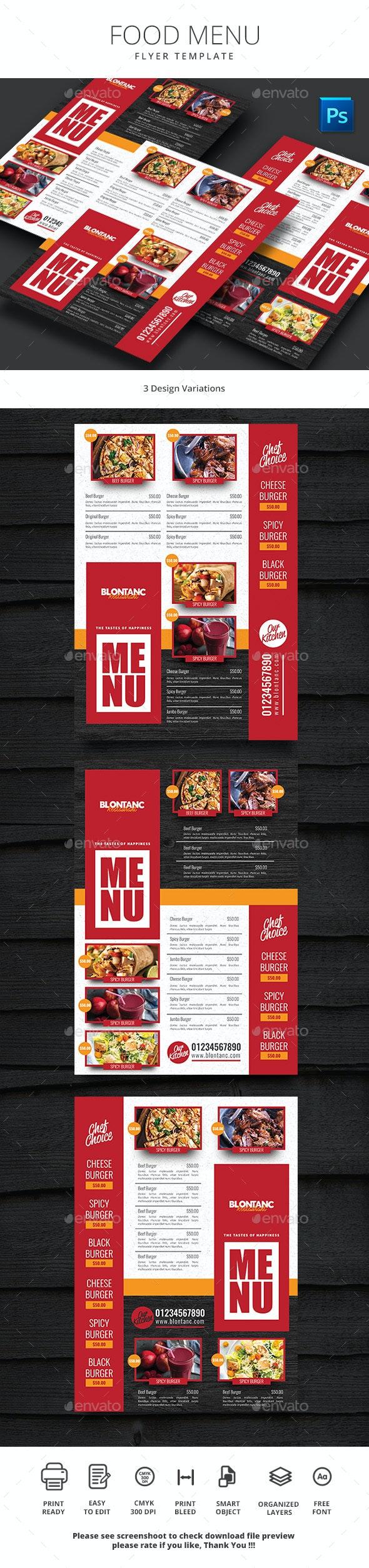 Food Menu 7 - Food Menus Print Templates