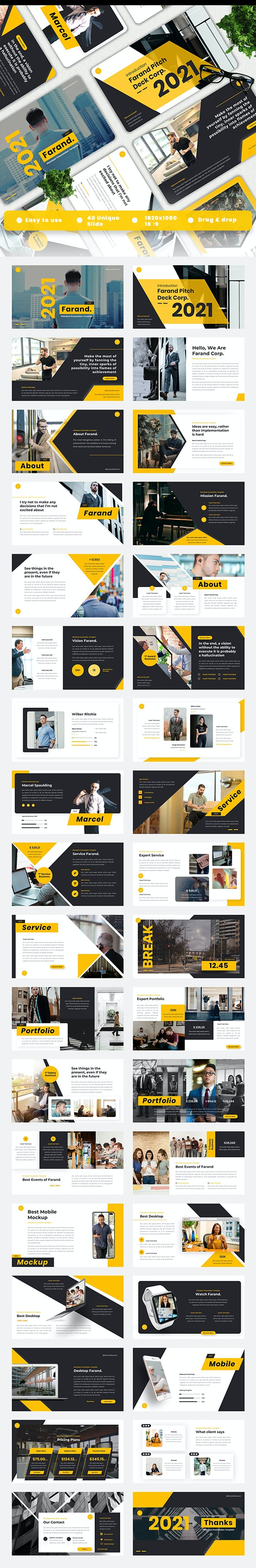 Farand - Pitch Deck Powerpoint Template - Business PowerPoint Templates