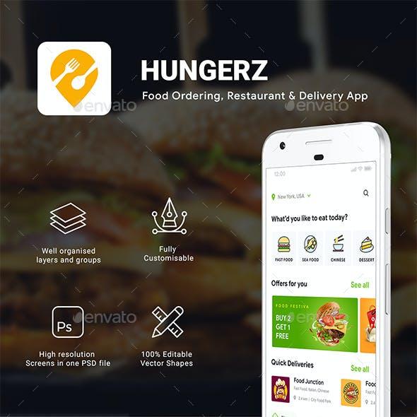 6 in 1 multi Restaurant Food Delivery App UI Kit | Hungerz