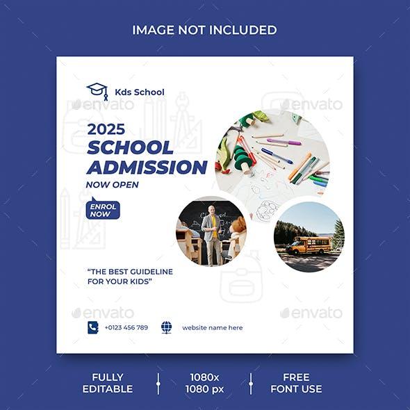 School Education Social Media Post Template
