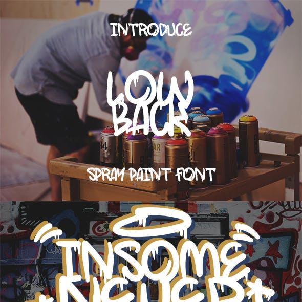 LowBack - Spray Paint Font