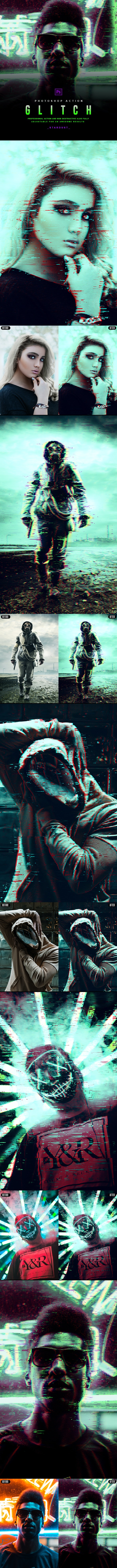 Glitch - Photoshop Action - Photo Effects Actions
