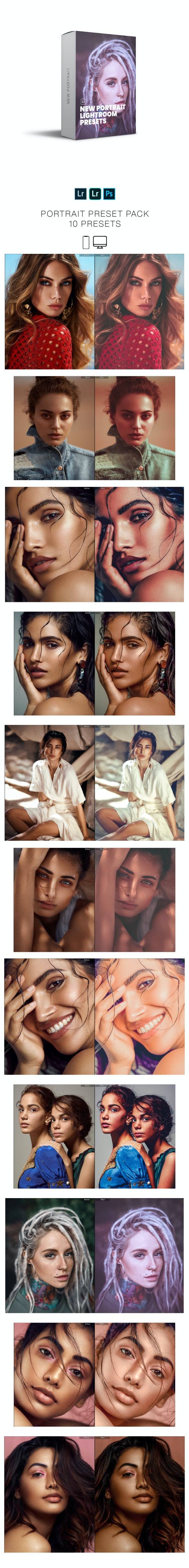 New Portrait Lightroom Presets Pack - Portrait Lightroom Presets