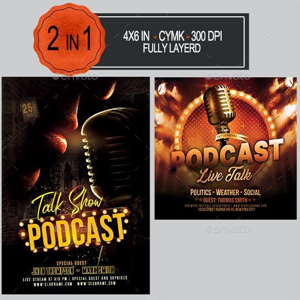 Podcast Flyer Bundle