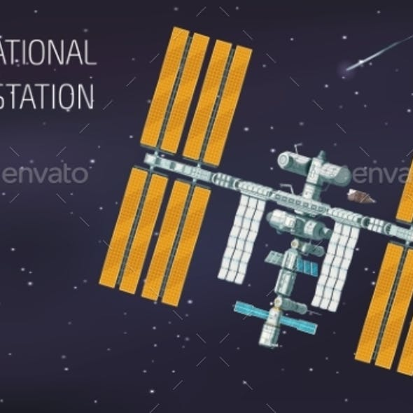 Flat Orbital International Space Station