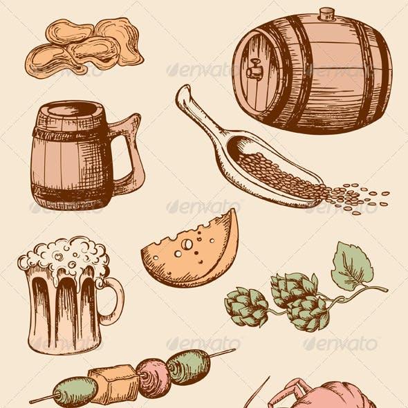 Set of Vintage Beer Icons
