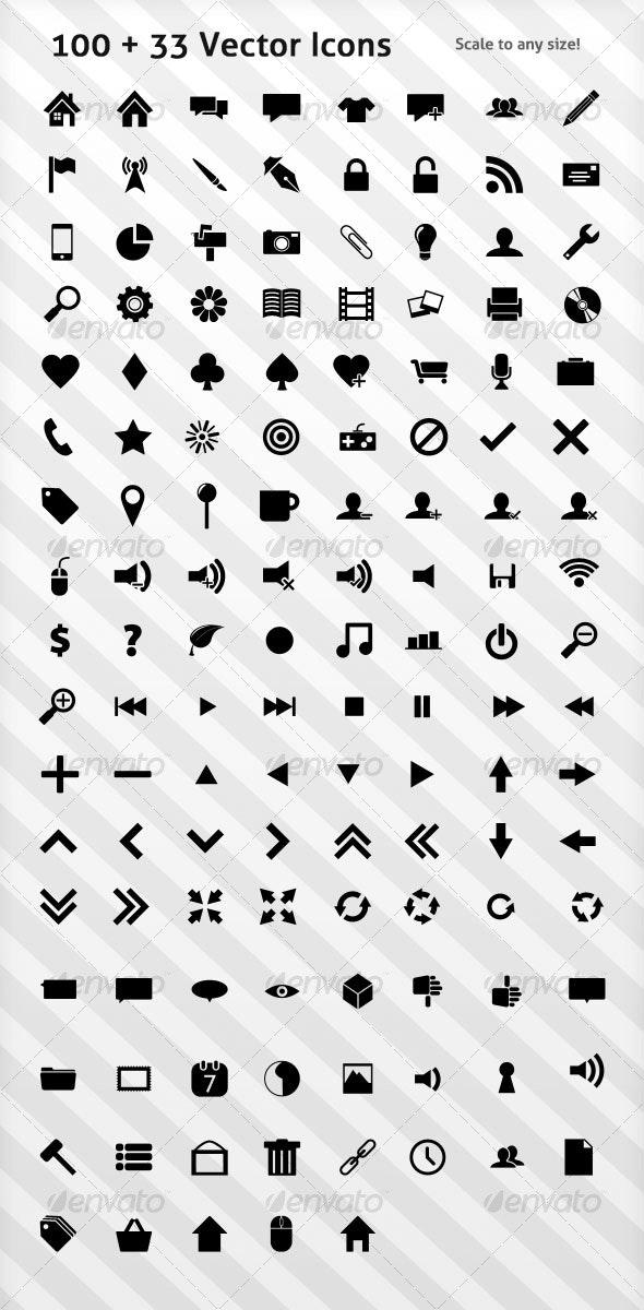 100 Icons - Web Icons
