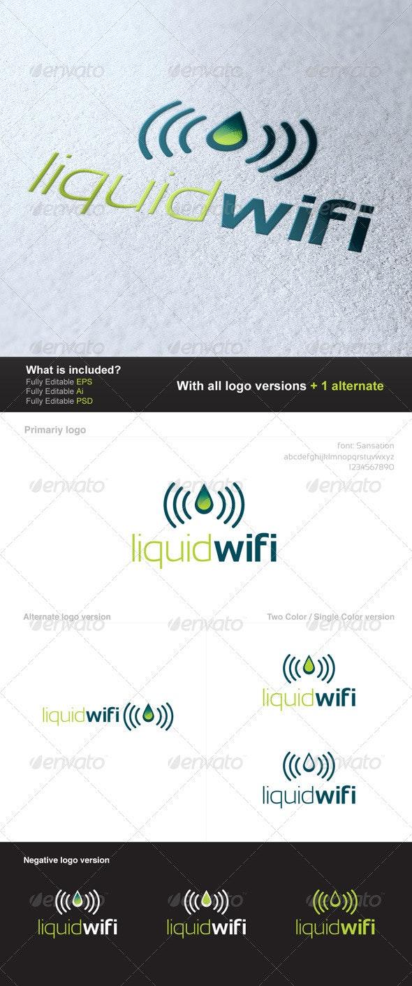 Liquid Wifi Logo - Symbols Logo Templates