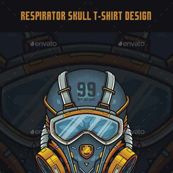 Respirator Skull T-Shirt Design