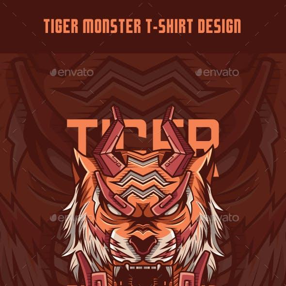 Tiger Monster T-Shirt Design
