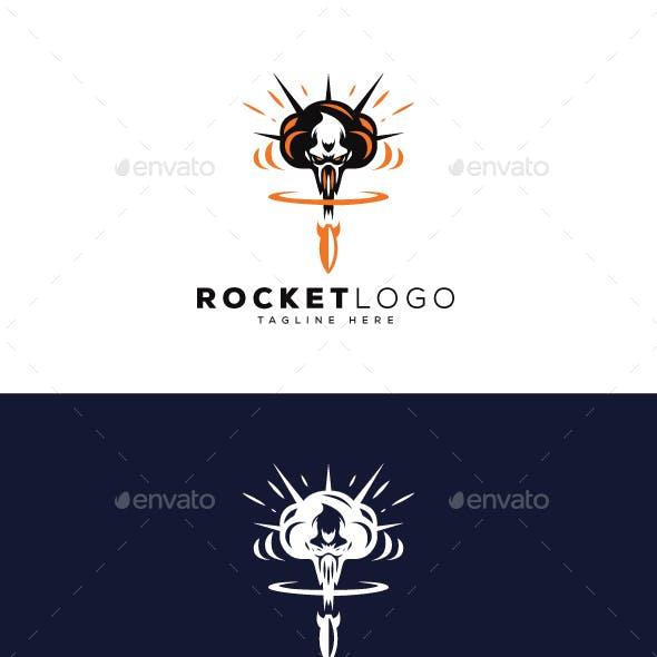 Rocket Explosion Logo