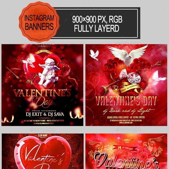 Valentines Day Instagram Banners