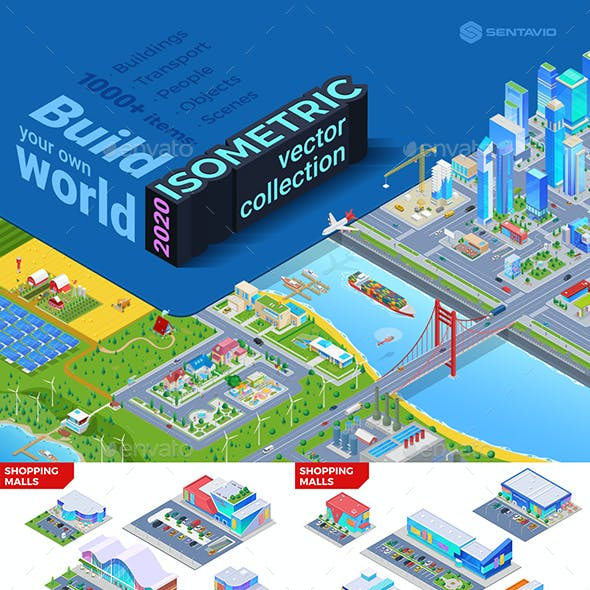 Isometric Vector Collection 2020