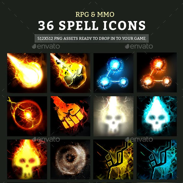 RPG & MMO Spell Icons