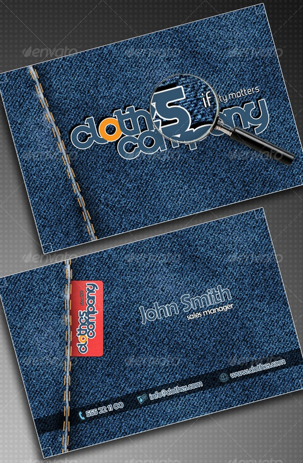 Clothes Company Business Card - Industry Specific Business Cards