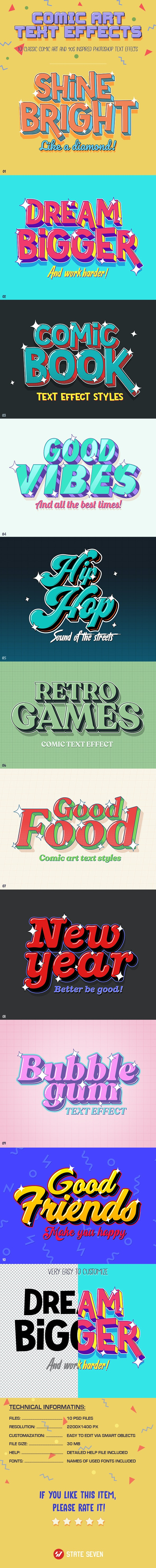Comic Text Effects - Text Effects Styles