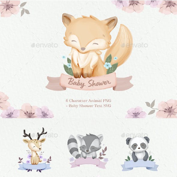 Cute Animal With Ribbon