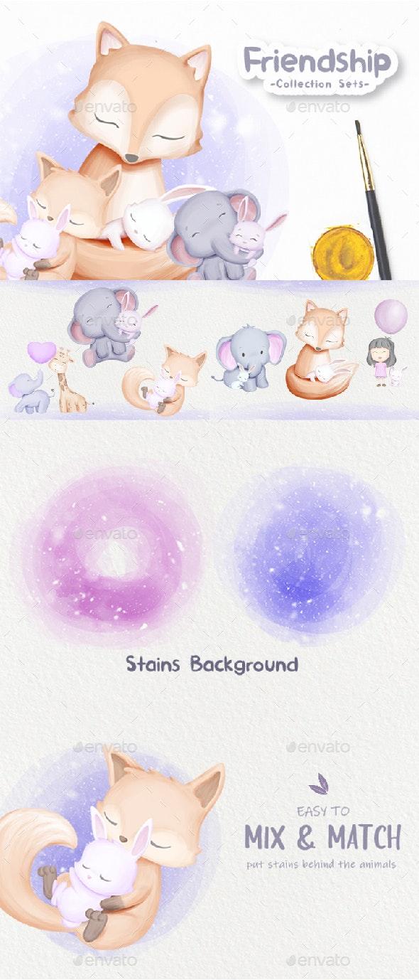 Animal Friendship Collection - Animals Illustrations