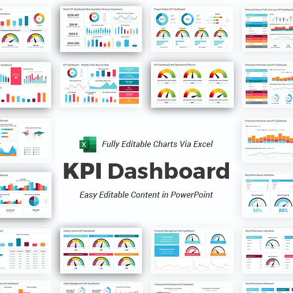 KPI Dashboard PowerPoint Template Diagrams