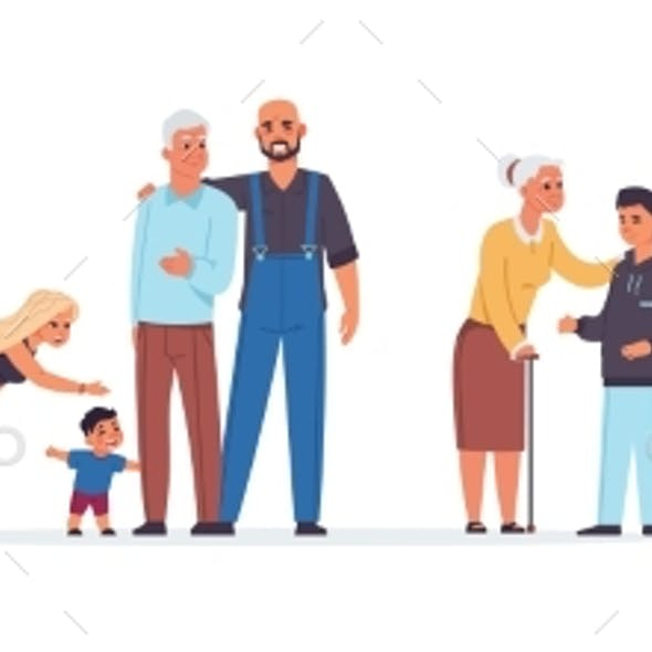 Old People with Relatives