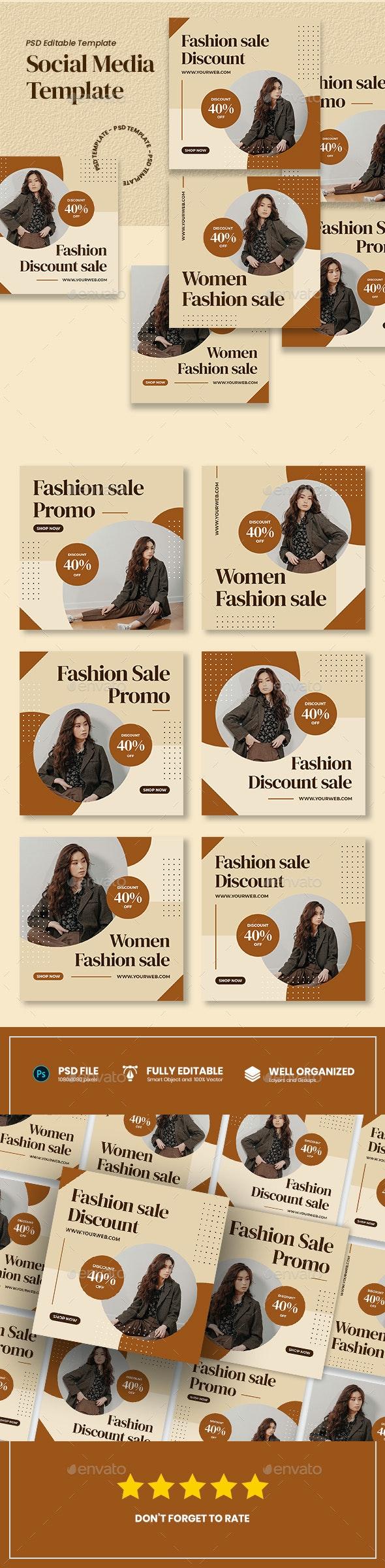 Women Fashion Promo Sale - Social Media Post - Social Media Web Elements