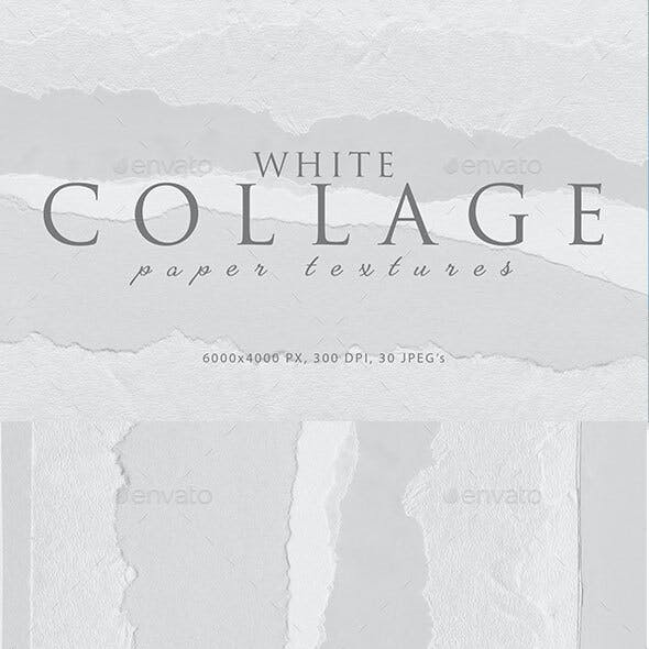 Collage White Paper Textures