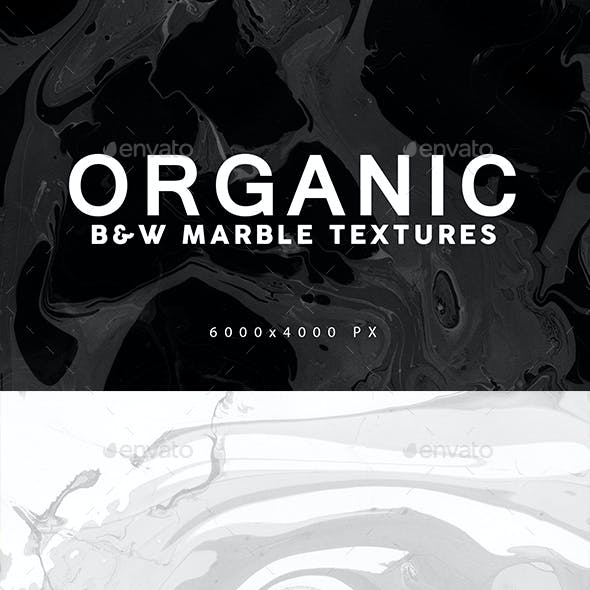 Black&White Organic Marble Backgrounds