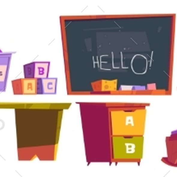 Kids Playroom or School Furniture and Equipment