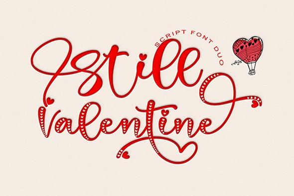 Still Valentine - Calligraphy Script