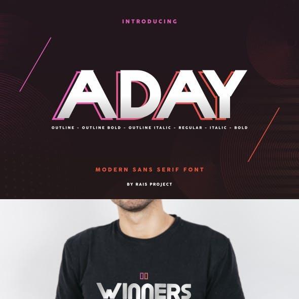 Aday Sans Serif Font
