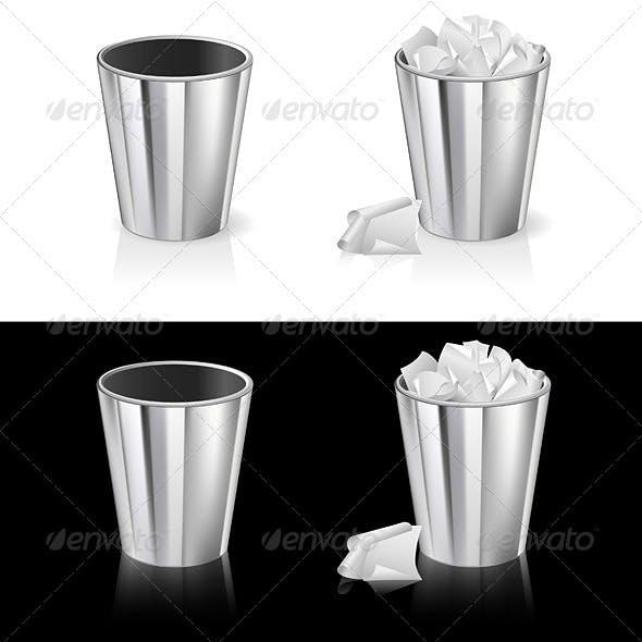 Set of garbage can