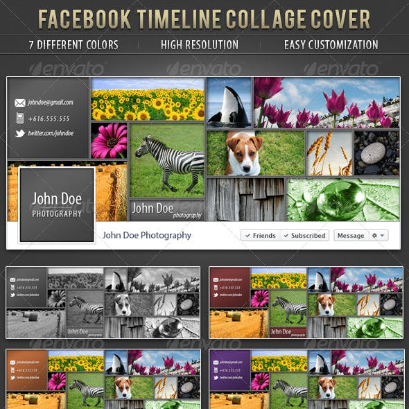 Facebook Collage Timeline Cover