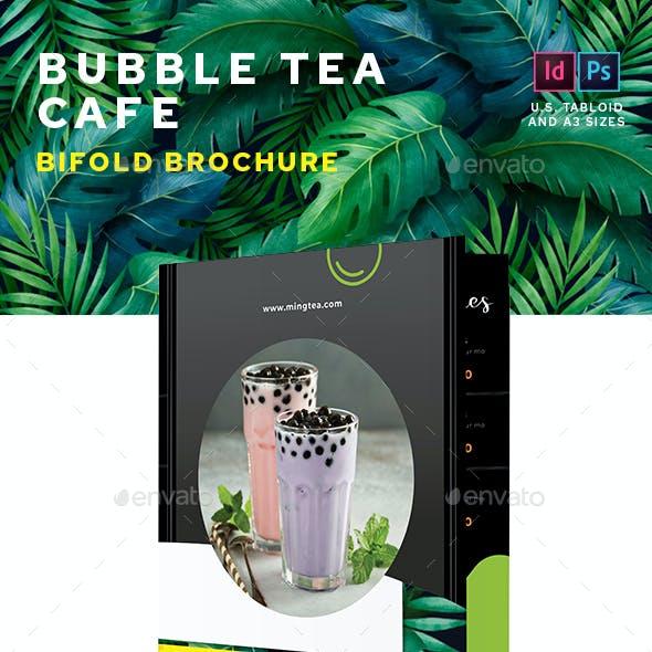 Bubble Tea Bifold Menu