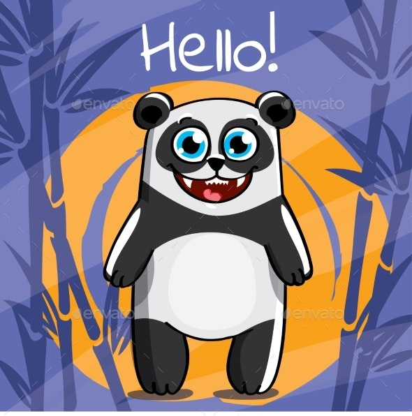 Vector Illustration of Cartoon Panda - Animals Characters