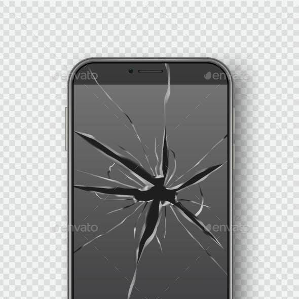Cracked Smartphone Screen