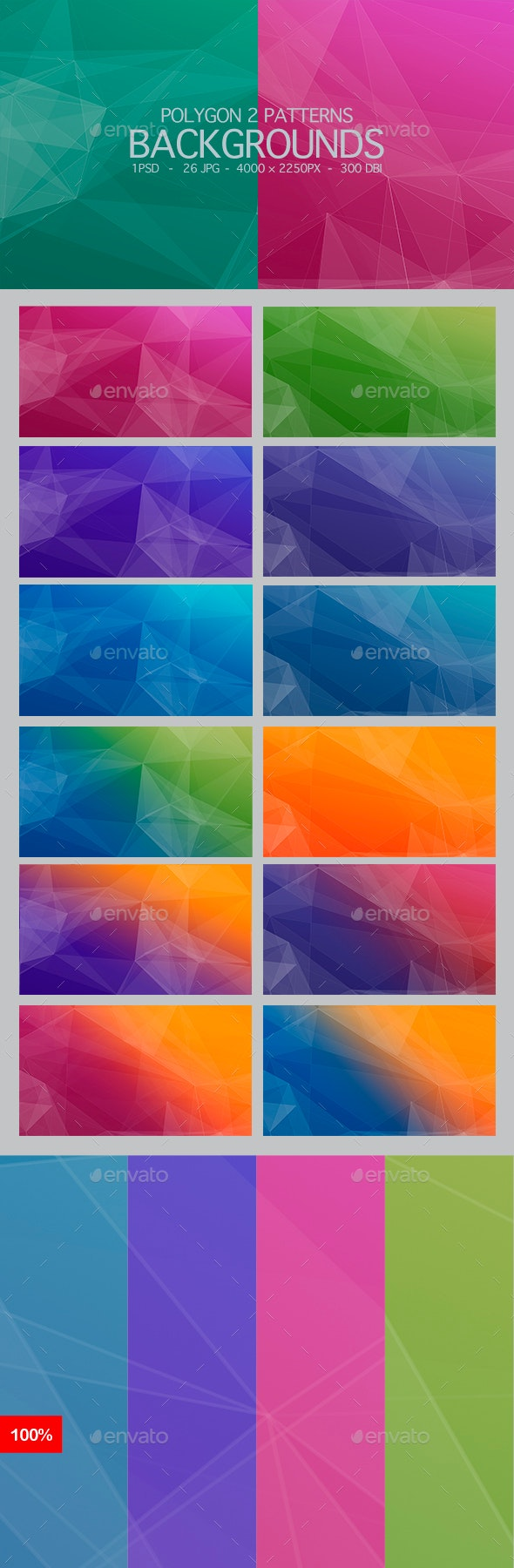26 Polygons Backgrounds - Backgrounds Graphics