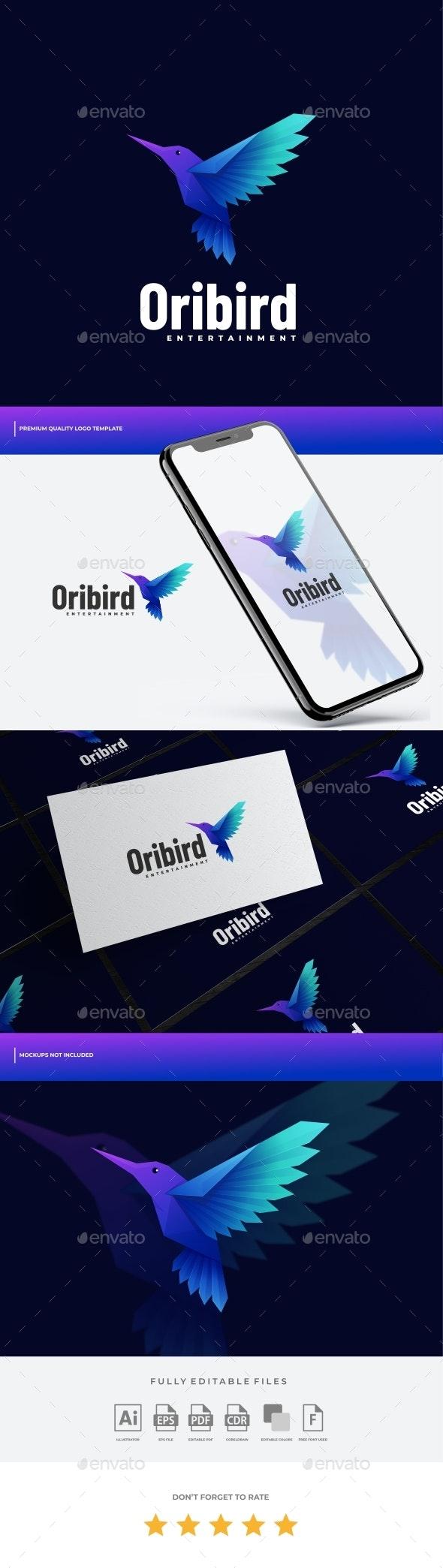 Bird Gradient Logo Template - Animals Logo Templates