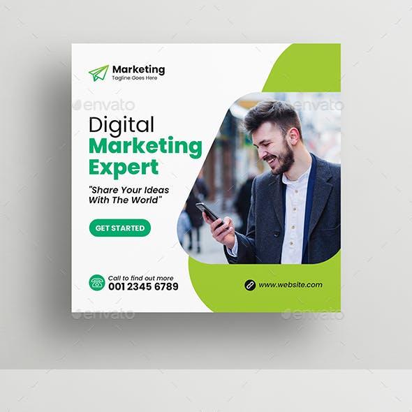 Digital Marketing Social Media Post Banner Design Template