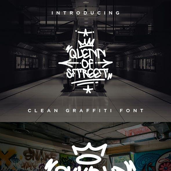 Quenn Of Street - Clean Graffiti Font