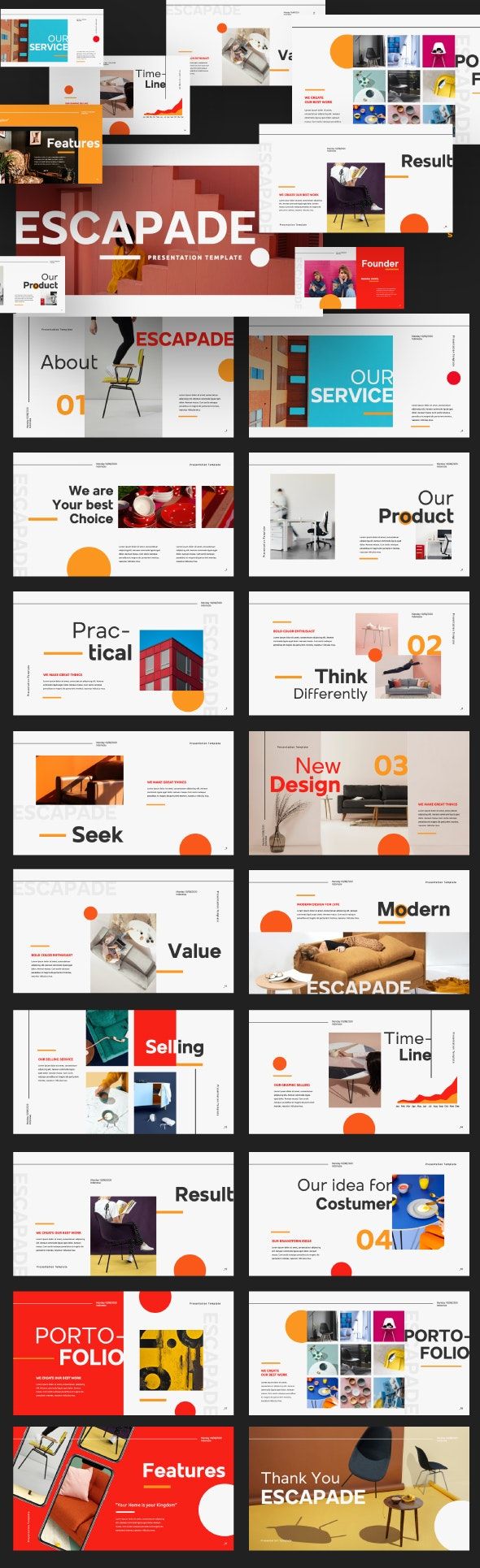 Escapade Powerpoint Presentation Template - Creative PowerPoint Templates