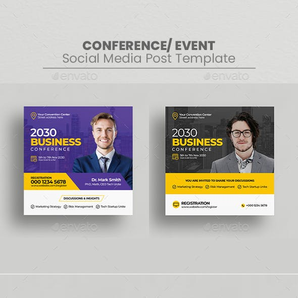 Conference Social Media Post Template