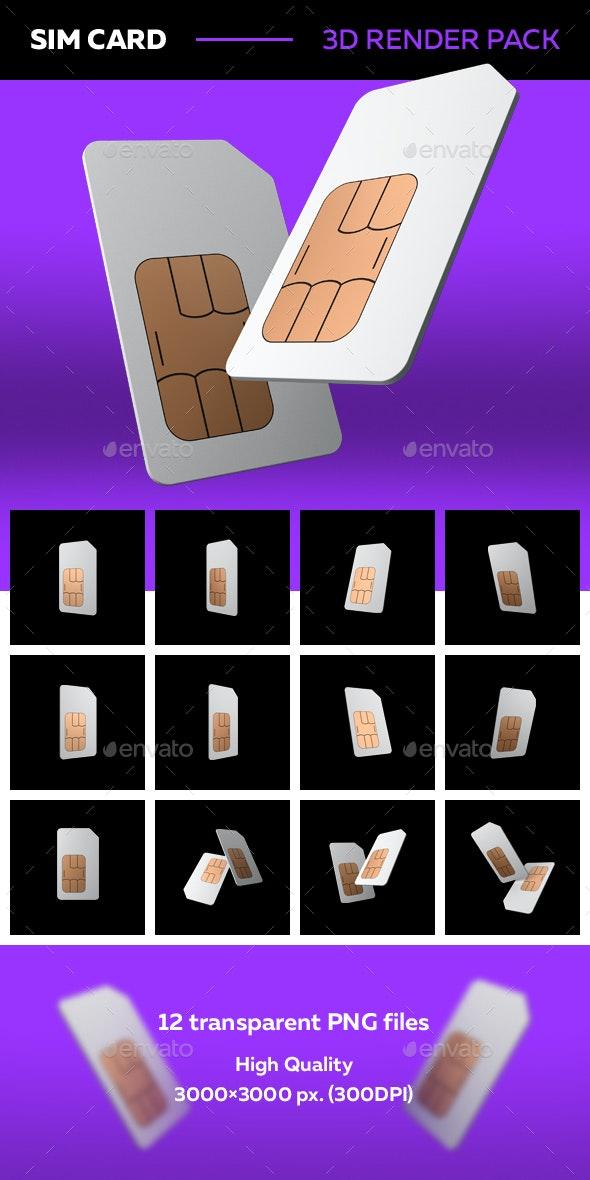 SIM Card 3D Renders - Objects 3D Renders
