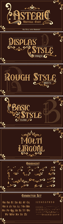 Asteric Vintage - Decorative Fonts