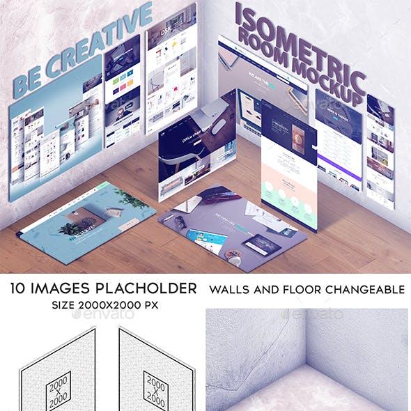 Isometric Room Mockup