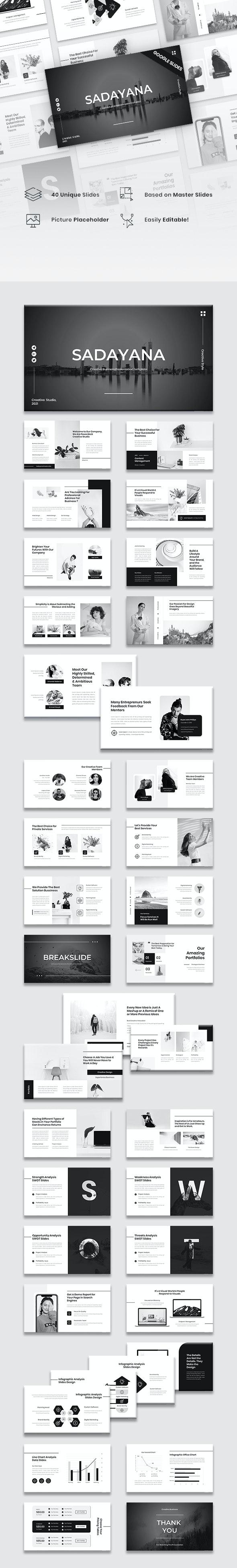 Sadayana - Creative Business Google Slides Template - Google Slides Presentation Templates