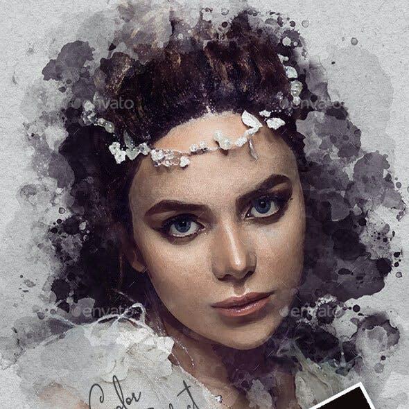 Watercolor Artistic Photo Template