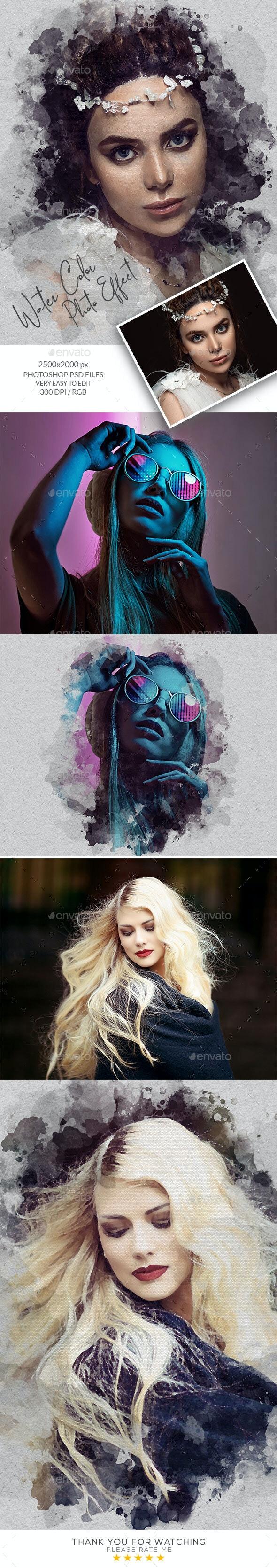 Watercolor Artistic Photo Template - Artistic Photo Templates