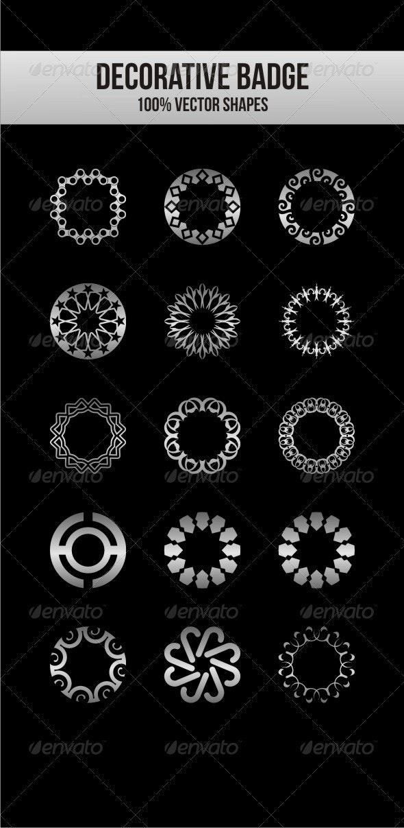 Decorative Badges - Decorative Vectors
