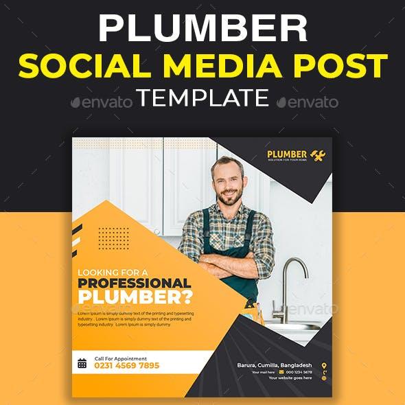 Plumber Social Media Post Template